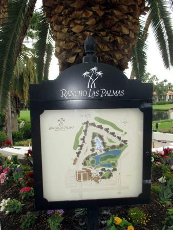 Omni Rancho Las Palmas Resort & Spa: Map of the facility