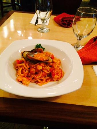 Trincity, Trinidad: Seafood pasta