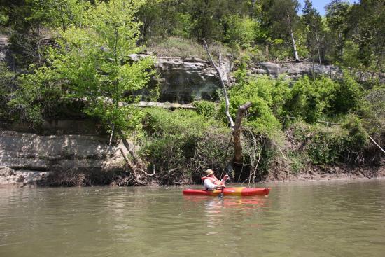 Pacific, MO: kayaking on the Meramec River