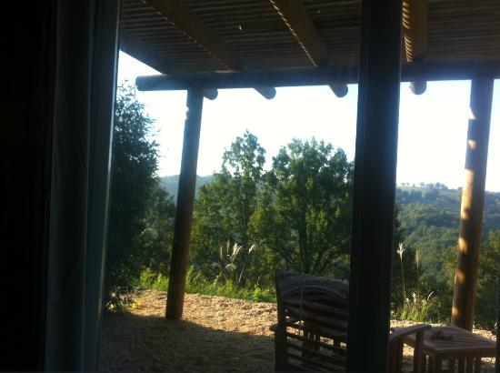 Maleville, France: vue depuis la chambre