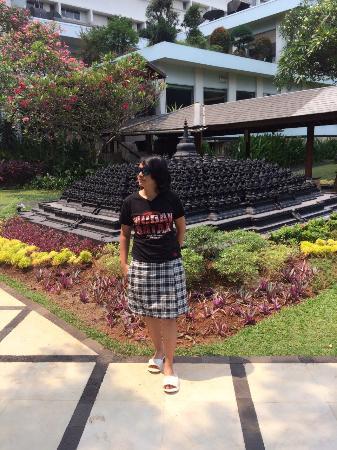 Hotel Borobudur Jakarta : Area sekitar kolam