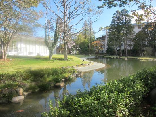 Mars Garden Wood Gotemba: 庭園は広くて散策できます。