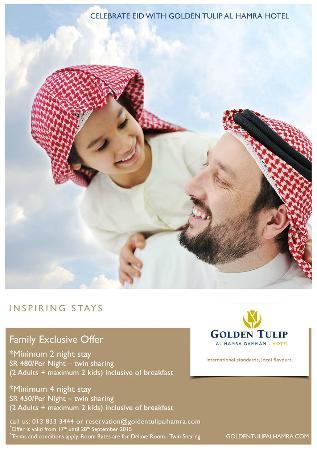 Golden Tulip Al Hamra: Eid Promotion - 17th til 28th September 2015