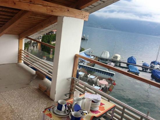 Strandhotel Seeblick: Déjeuner sur le balcon