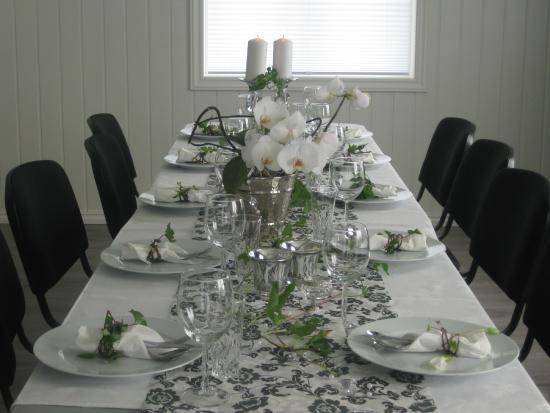 Sandefjord Municipality, Noruega: Dekket bord til selskap