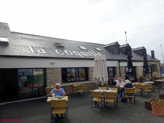La Coquille : la terrasse du restaurant