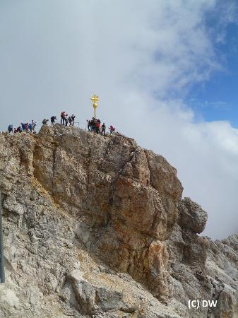 Cross on Top of Germany Zugspitze