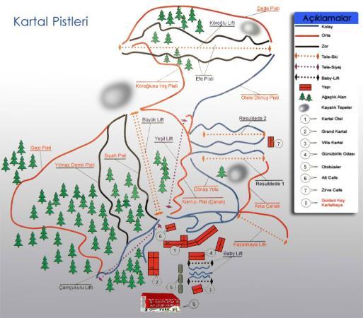 Kartal Pist Harita 1 Kartalkaya Bolu Koroglu Kis Turizm Merkezi