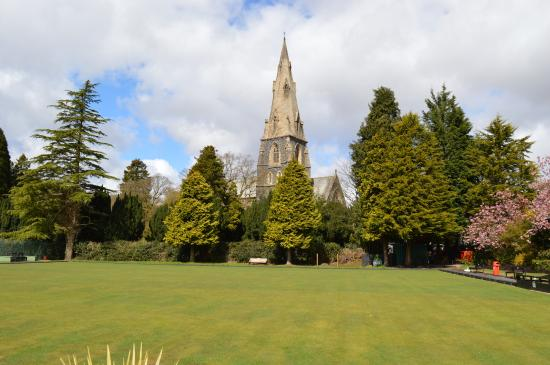White Platts Recreation Ground: Bowling Green/ Church