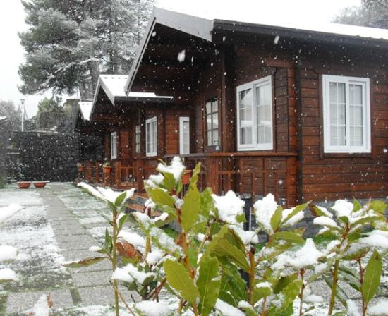 Etna Hut bed and breakfast: winter time