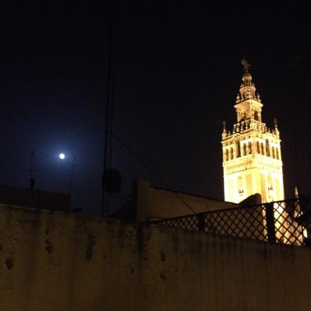 Life Apartments Giralda Suites: View of Giralda Tower from our rooftop patio