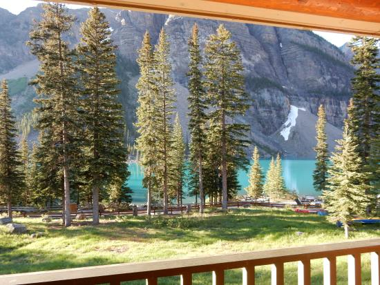 Moraine Lake Lodge: view from Wenkchemna wing