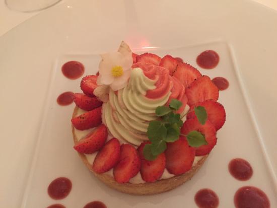Audrieu, France : Tarte aux fraises