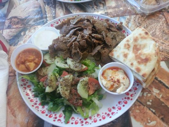 Doner Kebab Platter Picture Of Quality Turkish Market Deli Knoxville Tripadvisor