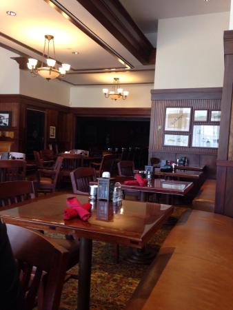 Perry, IA: View of restaurant interior