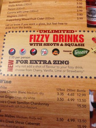 Extra Zing On The Menu Does Not Exist Picture Of Pizza