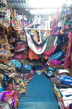 San Jose, Kosta Rika: Venta de hermosas y coloridas hamacas