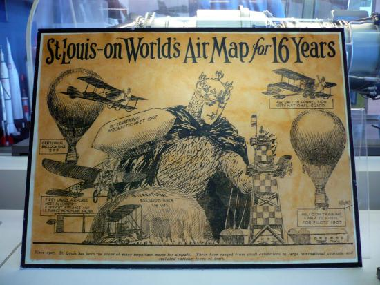 Cahokia, IL: Antique Poster On Display