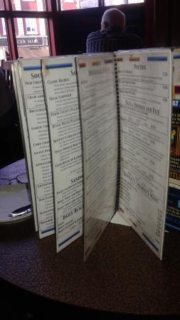 Bentleys Bar Inn & Restaurant : Bedntley's menu options