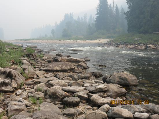 Lochsa River Rafting - ROW: Clearwater River bank