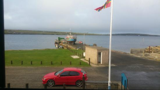 Burray Village, UK: View from our bedroom window