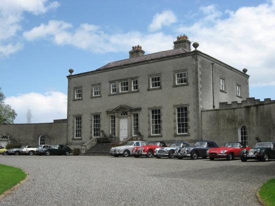 Steam Museum: The main house with our cars parked outside
