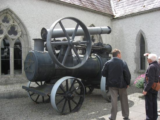 Steam Museum: A static engine outside the museum