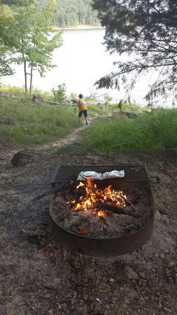 Kirby, AR: Campsite #61 campfire