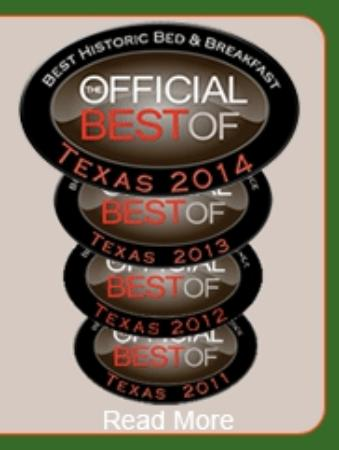 The Victorian Bed & Breakfast Inn: Best of Texas 2014, 2013, 2012 & 2011