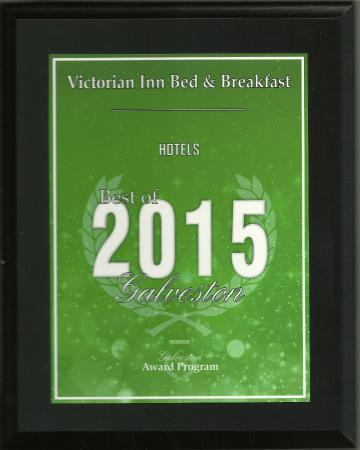 The Victorian Bed & Breakfast Inn: Galveston Hall of Fame Business, Best in 2015