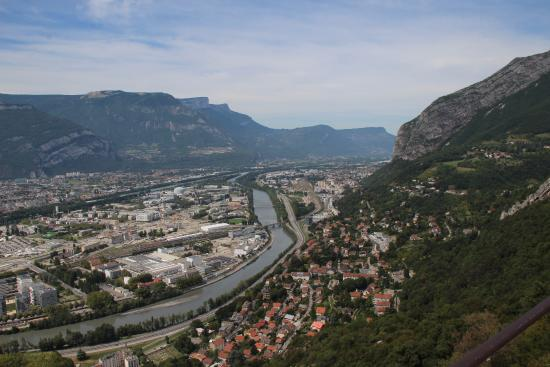 Ibis Grenoble Gare: City from above