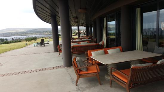 Hotel Hangaroa Eco Village & Spa: restaurante al aire libre
