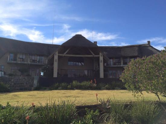 Drakensberg Region, Sudáfrica: Front view of lodge
