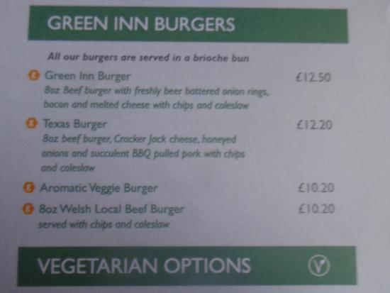 The Green Inn: Green Burgers