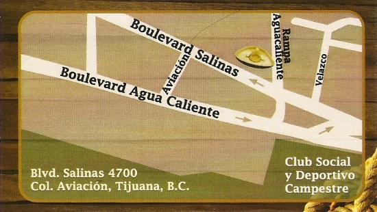 El Potrero Carnes: And a map, so you won't get lost....