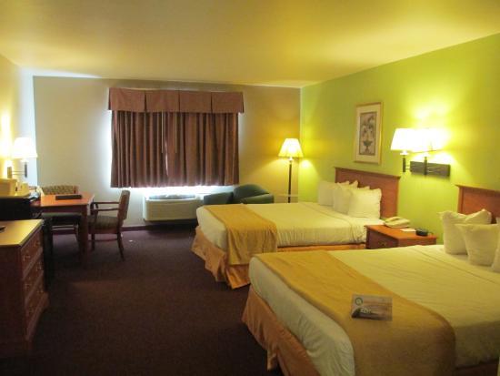 Quality Inn & Suites : Plenty of reading light!