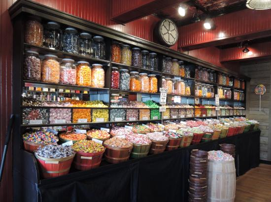 the old fashion candy store lots of candy