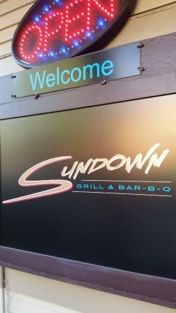 Sundown Grill & Bar-B-Q : Sign
