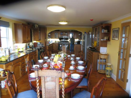 Rockridge House: gedeckter Frühstückstisch