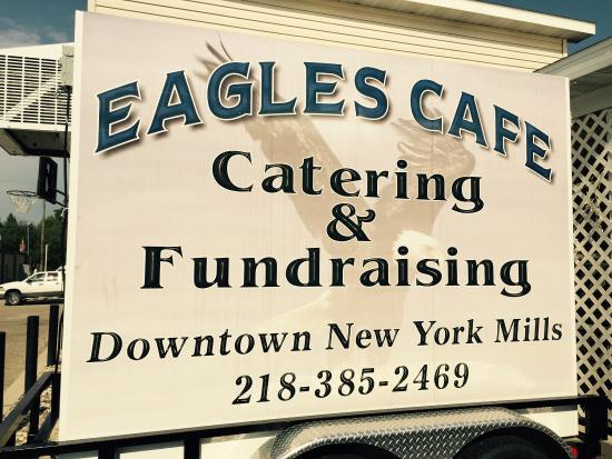 Eagle's Cafe: Catering truck and back entrance to the cafe