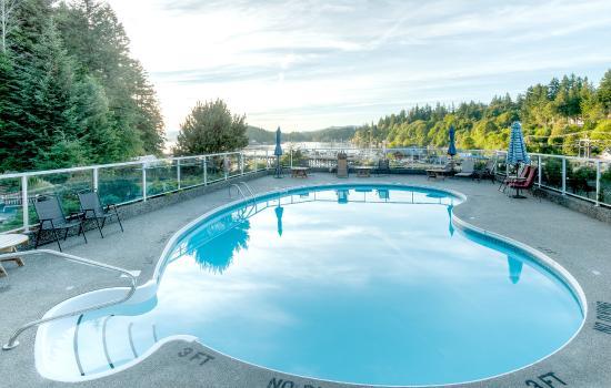 Quathiaski Cove, Καναδάς: View of the pool