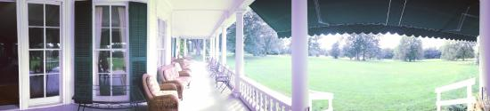 Geneseo, NY: Porch at Wadsworth Homestead