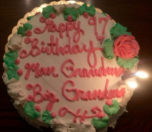 St Lucie Bakery Birthday Cake For Great Grandma 97 Years Old