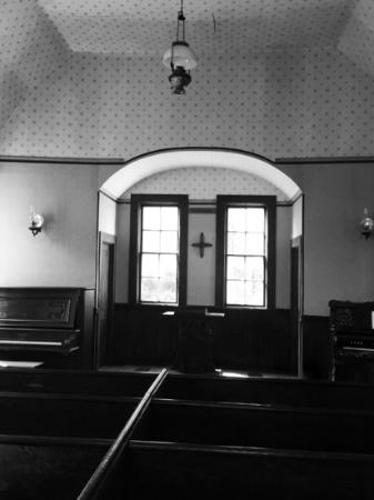 Oysterville, WA: inside the historic church