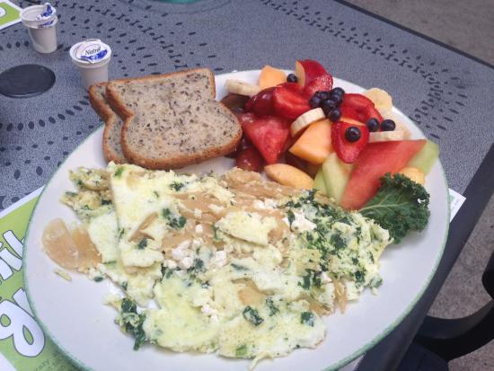 ... Breakfast and Lunch: Gluten Free : Goat's cheese and spinach omelette