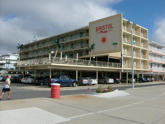 Bristol Plaza Motel Hotel From Pedestrian Strand Along Beach