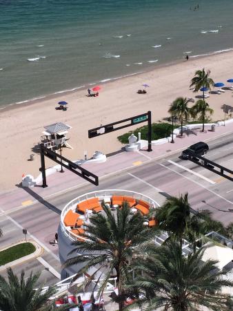 Hilton Fort Lauderdale Beach Resort The Rotunda With Orange Seating Is Wedding Platform