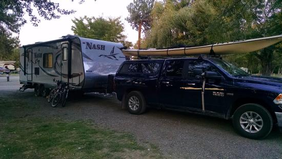 Ellensburg KOA: Our 24' travel trailer and truck