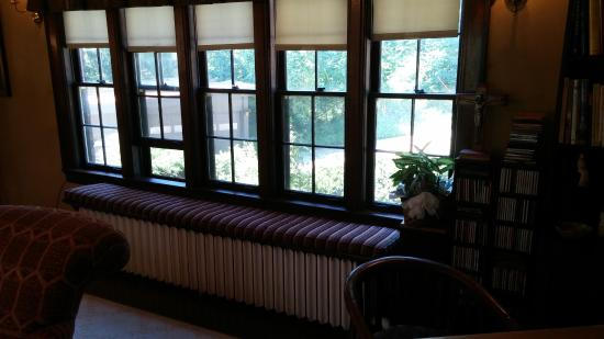 Butler House on Grand: Living Room Windows