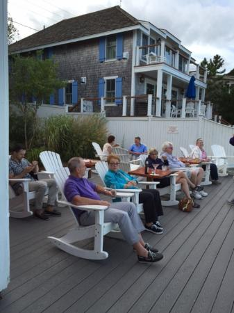 The Red Inn Restaurant: Relax Ing On The Deck